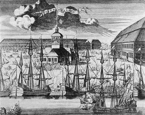 Ростовцев А., Троицкая площадь. 1716-1717 гг..