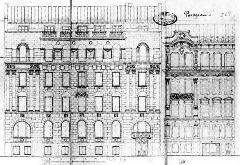 Проект фасада здания правления товарищества «Саламандра» дом.
