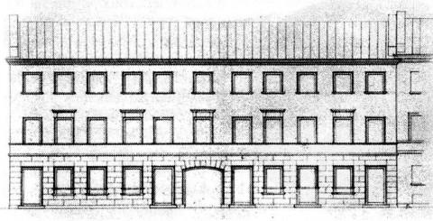 Дом купца Воронина. Фасад до перестройки 1902 г..