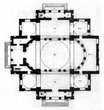 Знаменская церковь. План.