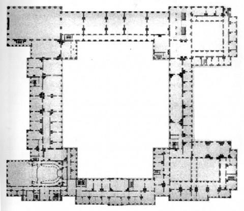 Растрелли Ф. Б., План второго этажа Зимнего дворца. 1760-е.