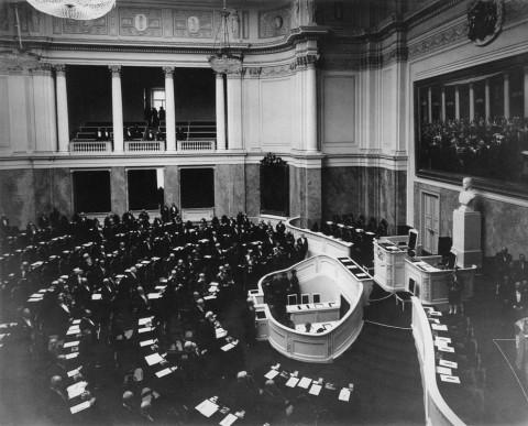 Булла К. К., Зал заседаний Государственного совета в Мариинском дворце. 1908.