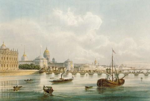 Шарлемань И. И., Наплавной Дворцовый мост.