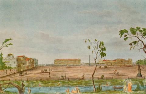 Иванов И. А., Вид Царицына луга от Верхнего (Михайловского) сада. 1814 г..