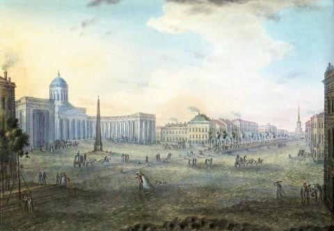 Неелов Ф. К., Невский проспект у Казанского собора. 1812-1816 гг..