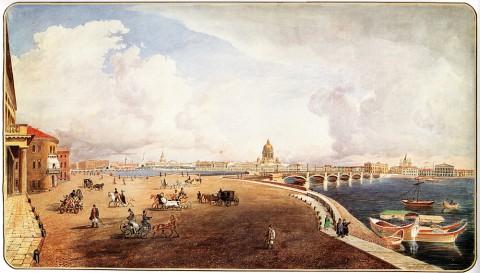 Керпель Л., Панорама Петербурга с Васильевского острова. 1853 г..