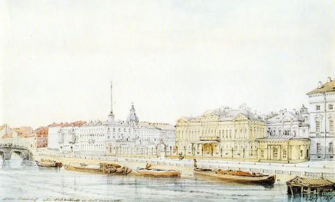 Премацци Л. О., Дворец Шереметевых на Фонтанке. 1867 г..