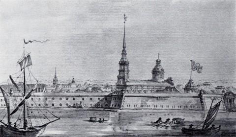 Кваренги Дж., Петропавловская крепость и собор. кон. XVIII в..