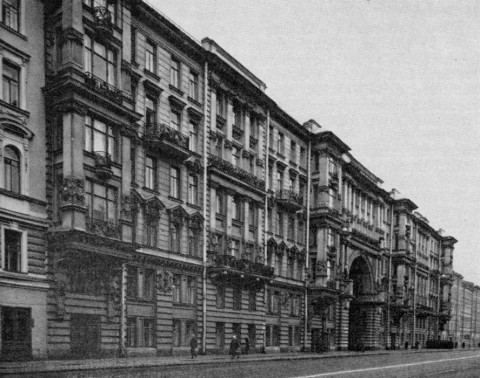 Жилой дом на улице Салтыкова-Щедрина, 32-34. 1985 г..
