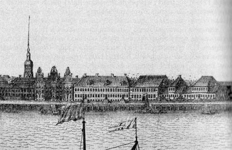 Зубов А. Ф., Дома на Петровской набережной. 1716.