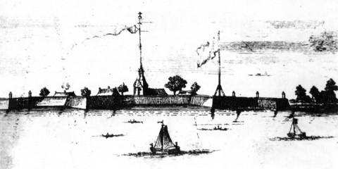 Пикарт П., Земляная Петропавловская крепость. 1707-1708.