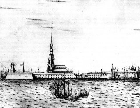 Марселиус Х., Петропавловская крепость. 1725.