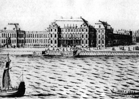 Марселиус Х., Дворец Меншикова на Васильевском острове. 1725.