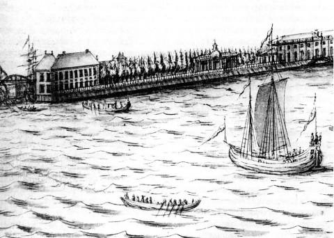 Марселиус Х., Летний дворец Петра I в Летнем саду. 1725.