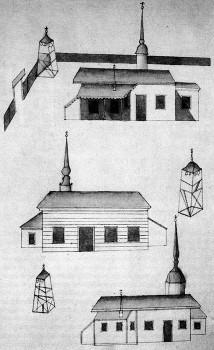 Неизвестный художник, Церкви Св. Сампсона, Св. Иосифа Древодела и Св. Симеона Богоприимца (сверху вниз).