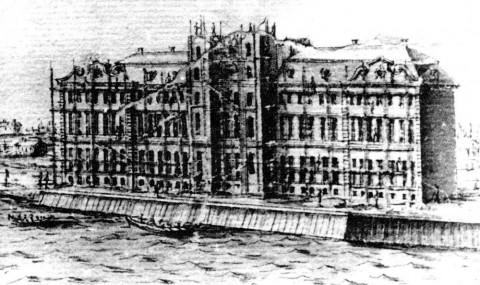 Марселиус Х., Постройка Кунсткамеры. 1725.
