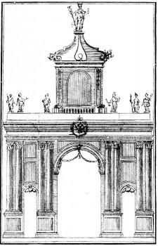 Неизвестный художник, Аничковские триумфальные ворота. 1732.