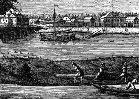 Вид Фонтанки у Калинкина моста.