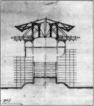 Подъёмный мост через Зимнюю канавку. 1727.