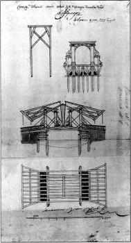 Подъёмный мост через Зимнюю канавку. 1753.