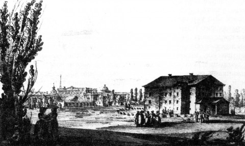 Кваренги Дж., Деревянный театр на Царицыном лугу.