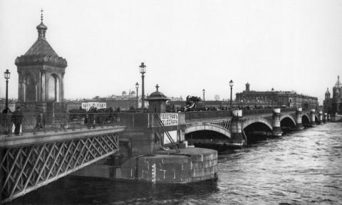 Николаевский мост. 1900-е гг..