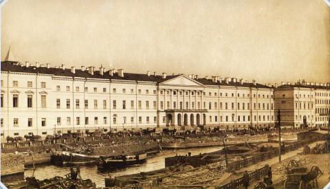 Неизвестный фотограф, Екатерининский институт на Фонтанке. 1890-е гг..