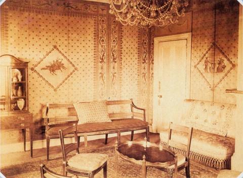 Павлов П., Бильярдная во дворце Шереметевых на Фонтанке. 1900-е.