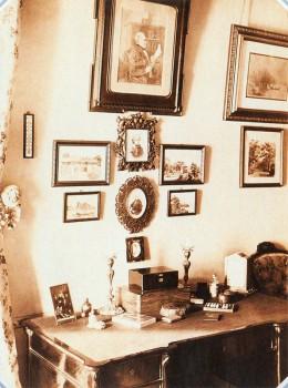 Неизвестный фотограф, Кабинет в квартире Е. Я. Бойэ в доме у Харламова моста. 1894.
