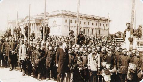 Неизвестный фотограф, Закладка здания Этнографического отдела Русского музея императора Александра III на Инженерной улице. 1900.