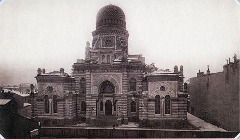 Булла К. К., Дом еврейской общины (Синагога) на Ново-Петергофском проспекте. 1890-е гг..