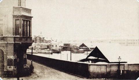 Ностиц И. Г., Набережная Невы на Васильевском острове зимой. 1853.