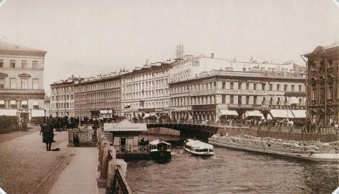 Булла К. К., Набережная Мойки у Полицейского моста. 1890-е гг..