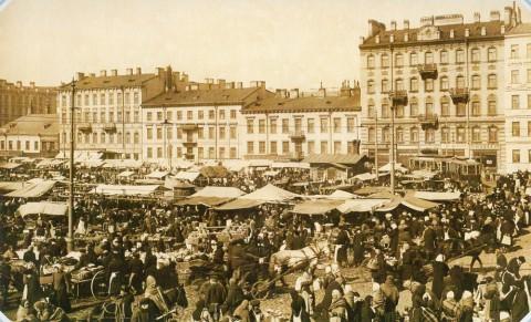 Булла К. К., Предпасхальный торг на Покровской площади 28 марта 1914 года. 28.03.1914.