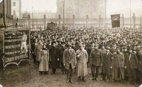 Штейнберг Я. В., Праздник транспортников у дворца Труда. 1919.