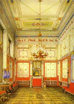 Ухтомский К. А,, Помпейская (Малая) столовая в Зимнем дворце. 1874.