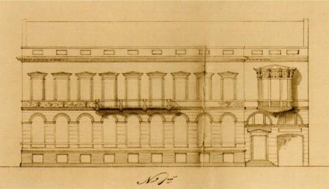 Боссе Г. Э., Проект дома Г. Гамбса. 1836.