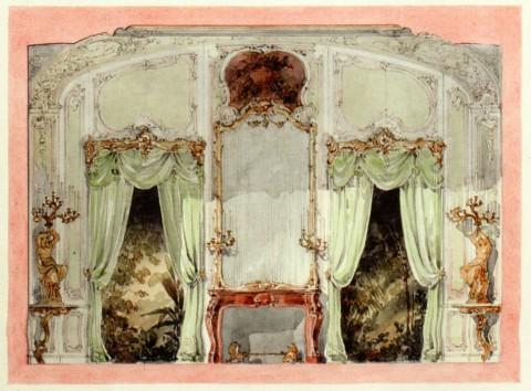 Боссе Г. Э., Проект неизвестного интерьера для Михайловского дворца.