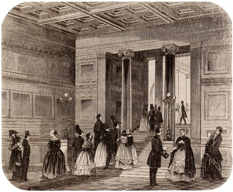 Парадные сени в доме И. В. Пашкова. 1849.