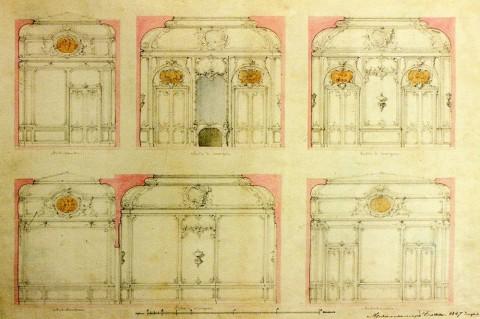 Боссе Г. Э., Проект отделки Передней и Столовой. 1847.