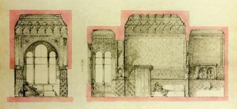 Боссе Г. Э., Проект оформления кабинета с эркером.