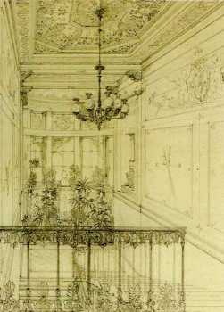 Парадная лестница в особняке Барятинских. 1837.