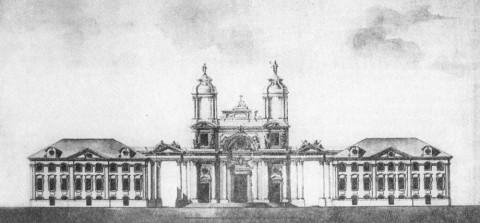 Проект фасада католической церкви. 1761.