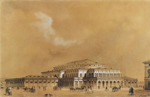 Премацци Л. О., Театр-цирк на Карусельной площади. 1848.