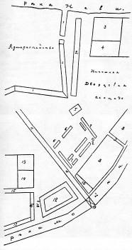 Реконструированный план местности вокруг Морского рынка близ Адмиралтейства.