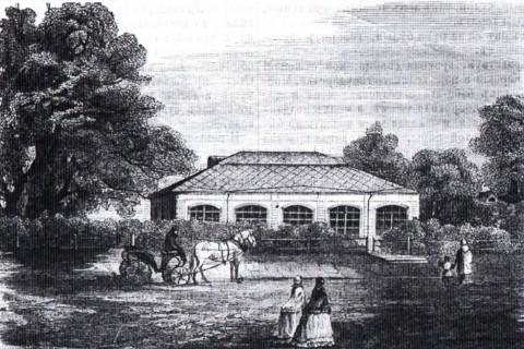Футляр над домиком Петра I. 1863.