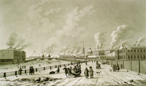 Дамам-Демартре М. Ф., Вид Симеоновского моста. нач. XIX в..