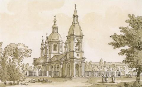 Кваренги Дж., Андреевский собор на Васильевском острове. 1780-е гг..