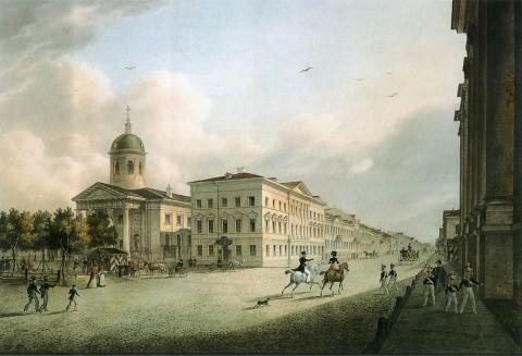 Беггров К. П., Лютеранская церковь святой Екатерины. 1820-е гг..