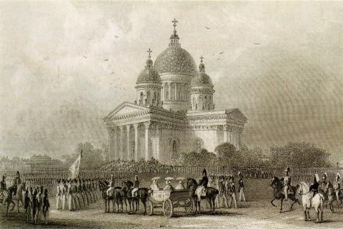 Неизвестный художник, Парад лейб-гвардии Измайловского полка 11 июня 1850 года. 1863 г..